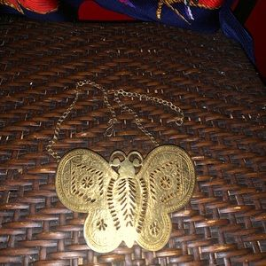 Kenneth Lane Big Bold Butterfly Necklace
